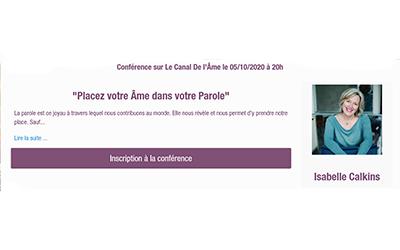 Conférence en ligne le 5 octobre 2020 à 20h